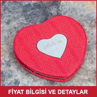 Sevgiliye Hediye Kalp Makyaj Aynası