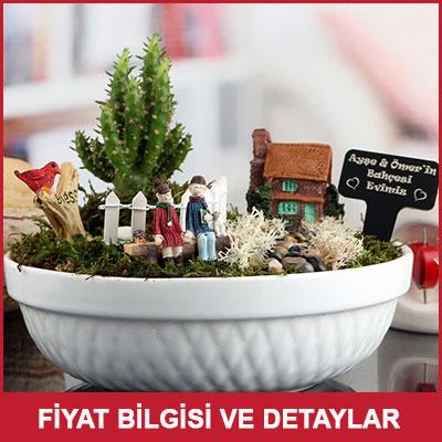 Sevgililere Özel Aşk Evi Minyatür Bahçe