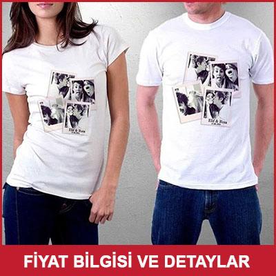 Sevgililere Özel Fotoğraf Baskılı Tişört