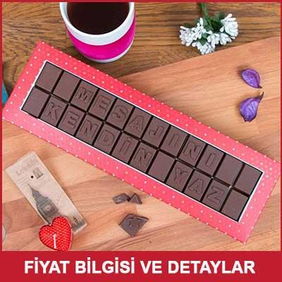 Anneye Hediye Mesajlı Harf Çikolata