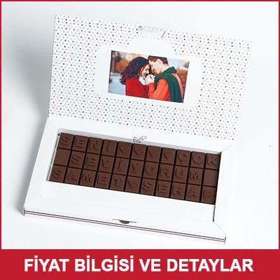Bayana Hediye Seni Çok Seviyorum Harf Çikolata