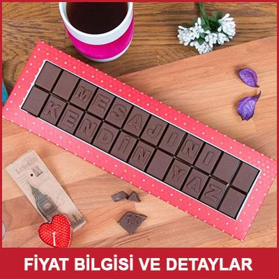 Çocuğa Doğum Günü Hediyesi Mesajlı Çikolata