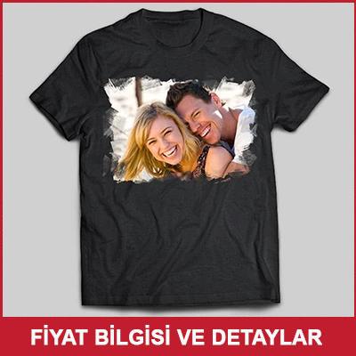 Erkek Arkadaşa Fotoğraf Baskılı Tişört