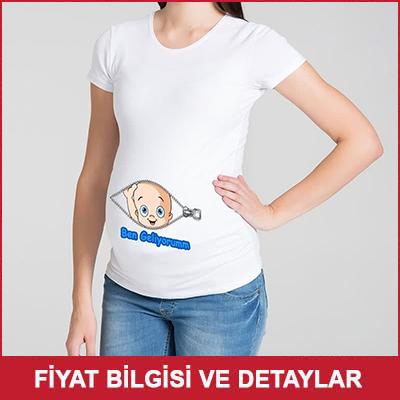 Hamile Kadına Hediye Tişört