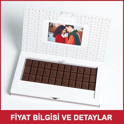 Seni Çok Seviyorum Yazılı Harf Çikolata