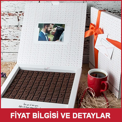 Uzaktaki Sevgiliye Hediye Harf Çikolata