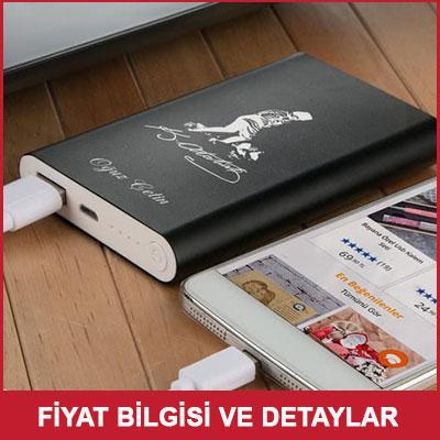 İsme Özel Atatürk Silüetli Powerbank