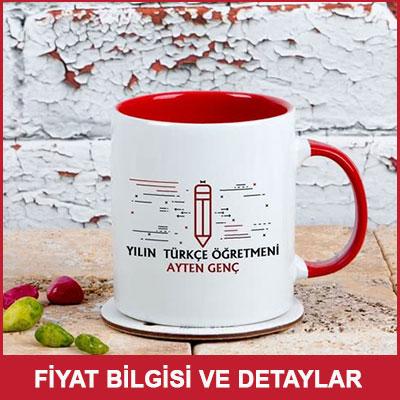 Türkçe Öğretmenine Hediye Renkli Kahve Kupası