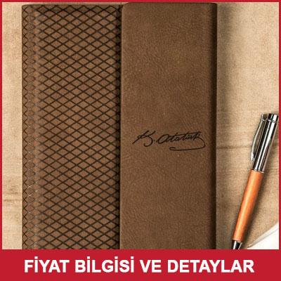Atatürk İmzalı Özel Deri Not Defteri
