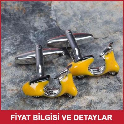 Sarı Vespa Kol Düğmeleri