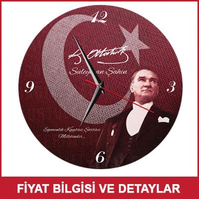 Atatürk İmzalı ve Fotoğraflı Duvar Saati