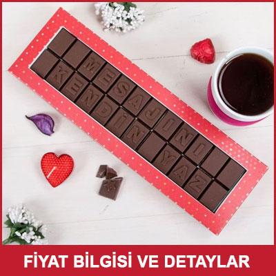 Kişiye Özel Mesajlı Harf Çikolata