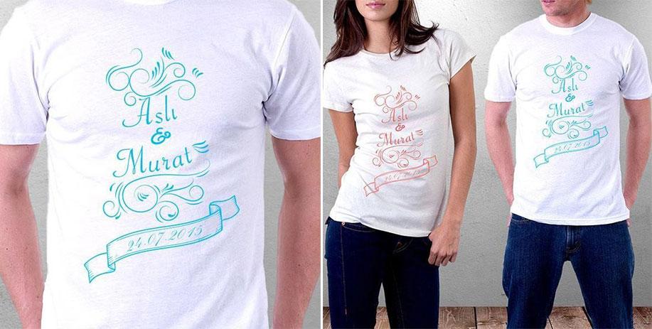 isim yazılı sevgili tişörtü