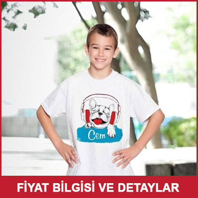 Erkek Çocuklarına Özel İsim Yazılı T-shirt