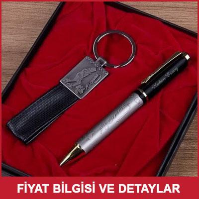 Atatürk İmzalı İsimli Kalem ve Anahtarlık Seti