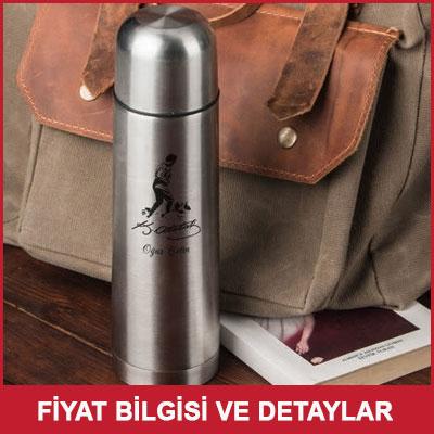 Atatürk Silüeti Ve İmzalı Çelik Termos