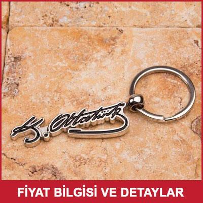 Atatürk İmzalı Anahtarlık Rozet Hediye Seti