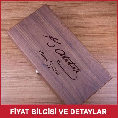 Atatürk İmzalı Ceviz Tavla