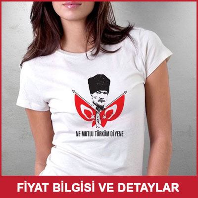 Ne Mutlu Türküm Diyene Atatürk Tişörtü