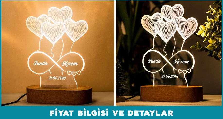 3d led lamba sevgiliye